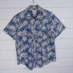Lucky Brand Button-up Palm Print Shirt
